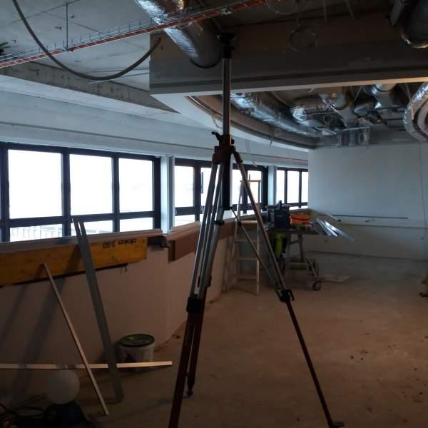 Mellanväggen till det nya konferensrummet i aulan på våning 5