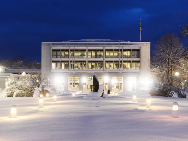 Lagtinget i vinterlandskap