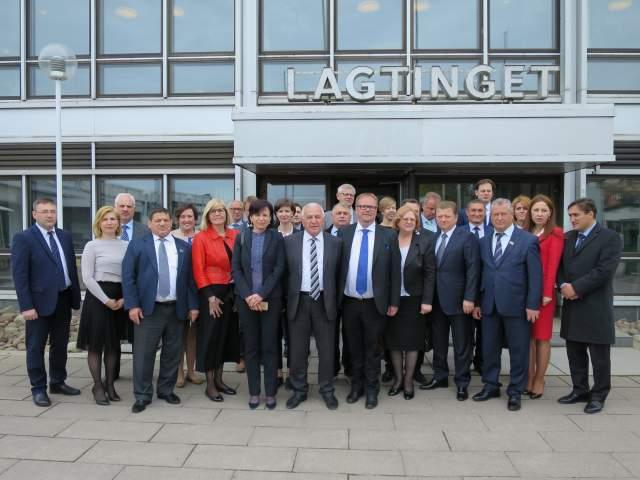 Besöksgrupp med parlamentariker från Moldavien och Gagauzien
