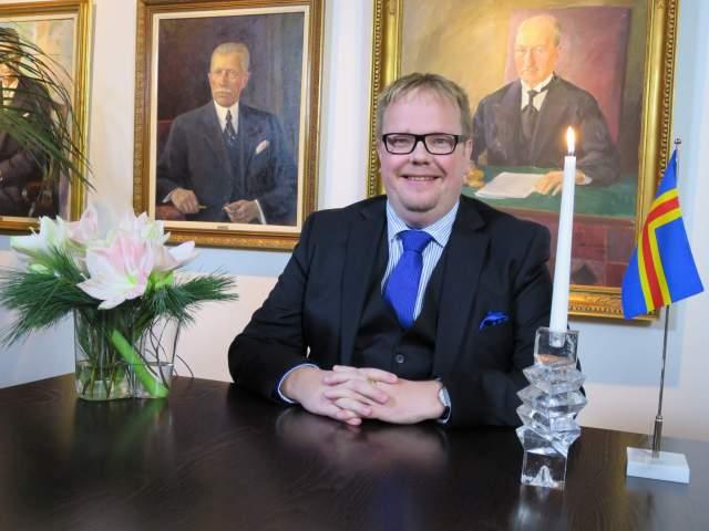 Talmannen Johan Ehn vid nyårstalet 1 januari 2016