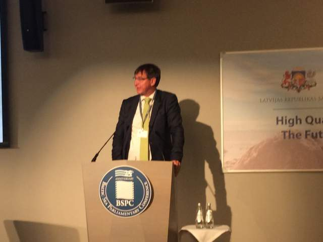 Jörgen Pettersson på BSPC konferens i Riga