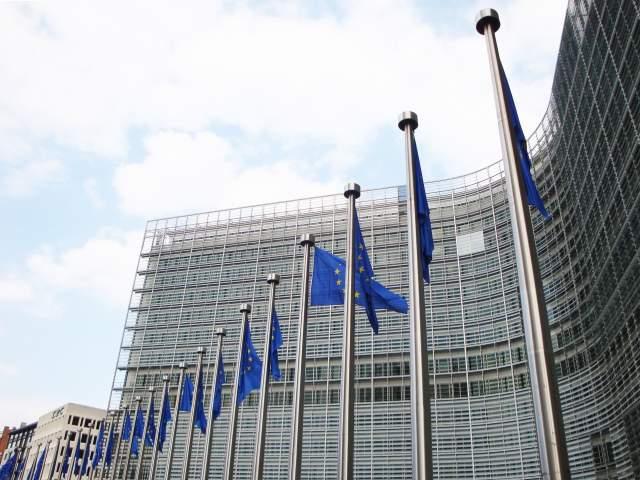 Eu-flaggor och parlamentet