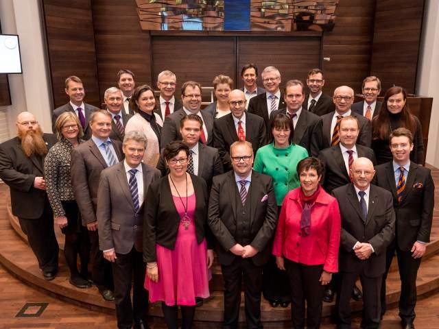 Gruppbild av lagtinget 2015-2019