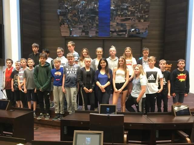 Näfsby skola årskurs 6 på besök till lagtinget